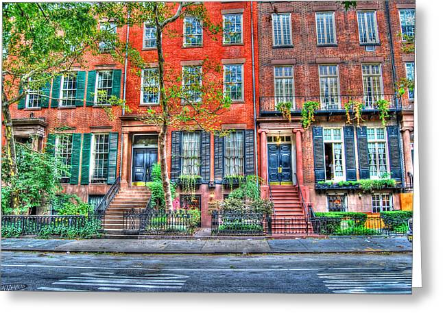 Waverly Place Townhomes Greeting Card by Randy Aveille
