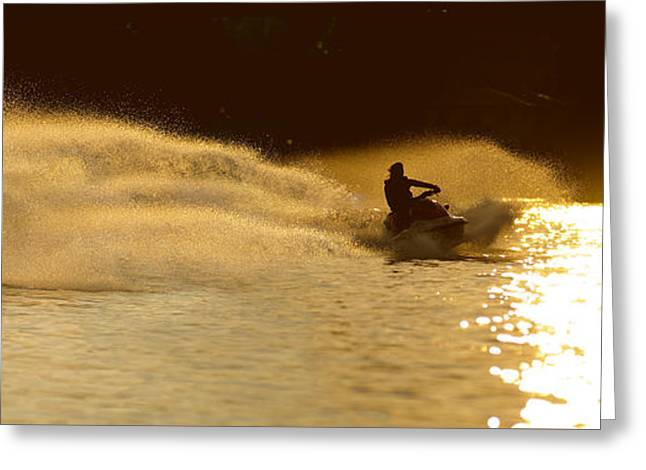 Waverunner Weekend Greeting Card by Steve Gadomski