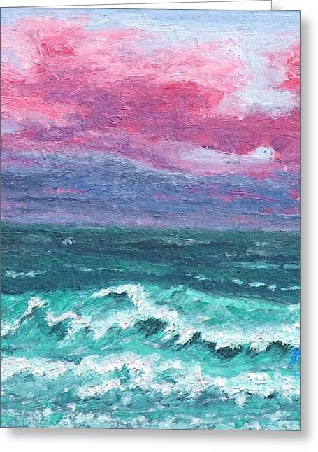 Waves 4 Greeting Card by Alex Mortensen