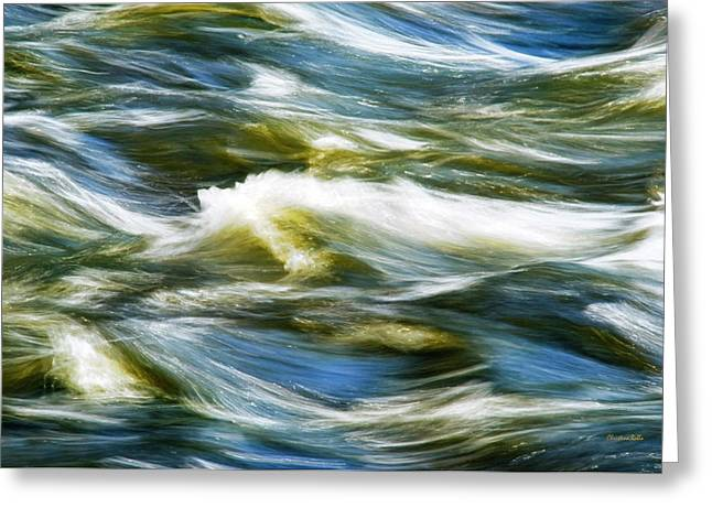 Waves Abstract Greeting Card by Christina Rollo