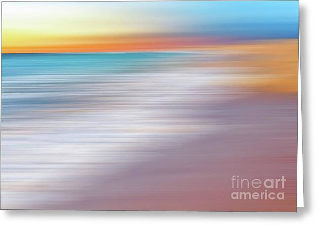 Waves Abstraction II By Kaye Menner Greeting Card by Kaye Menner