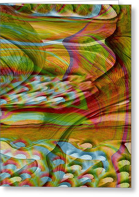 Waves And Patterns Greeting Card by Linda Sannuti