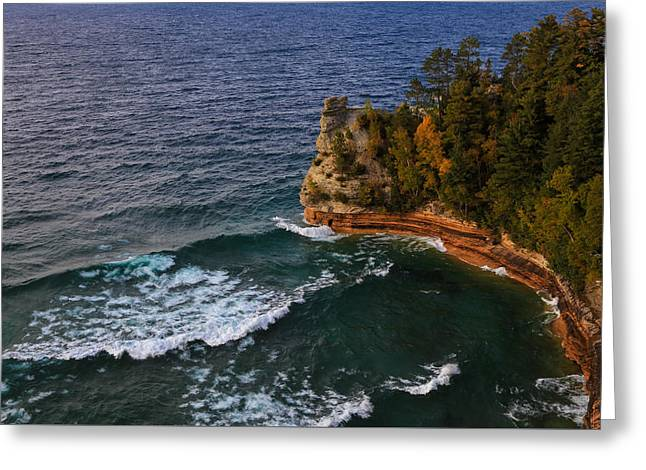 Waves At Miners Castle Greeting Card