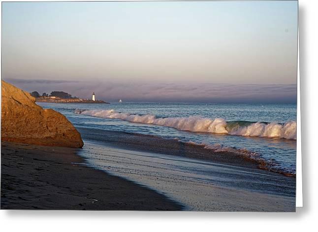 Waves At Santa Cruz Greeting Card