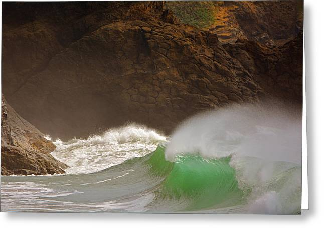 Waves At Waikiki Greeting Card