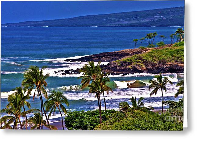 Waves Breaking At Hapuna Beach Greeting Card