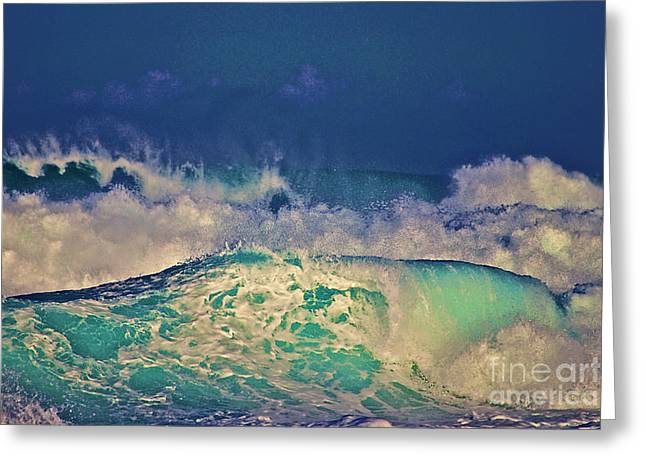 Waves Breaking Greeting Card