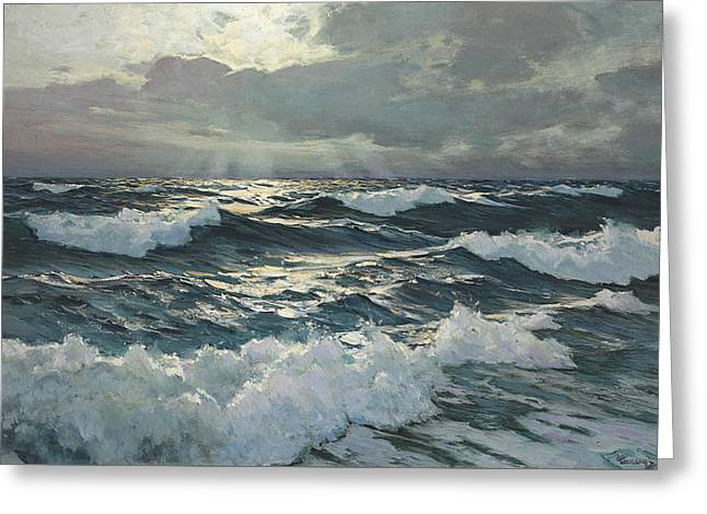 Waves  Greeting Card by Frederick Judd Waugh