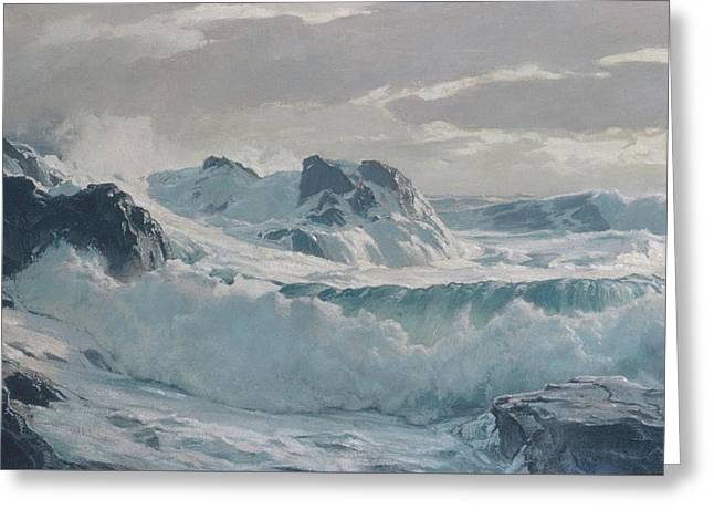 Waves Greeting Card by Frederick Judd