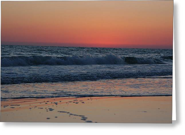 Waves In The Gulf Of Mexico Greeting Card