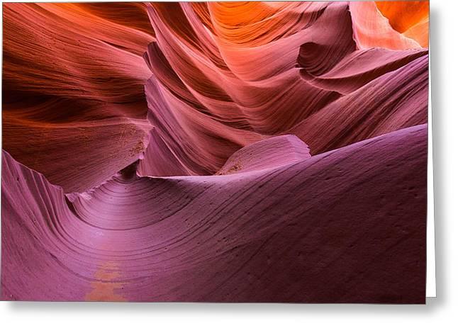Waves-lower Antelope Canyon Greeting Card