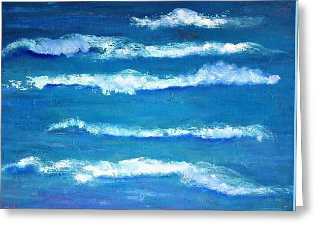 Waves Greeting Card by Marla McPherson