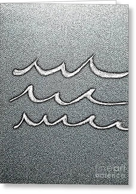 Waves Minimalist Art Greeting Card by Scott D Van Osdol