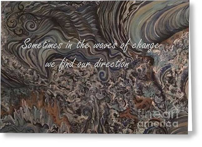 Waves Of Change Greeting Card