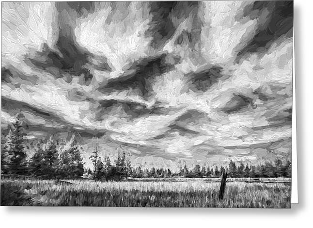 Waves Of Clouds II Greeting Card by Jon Glaser