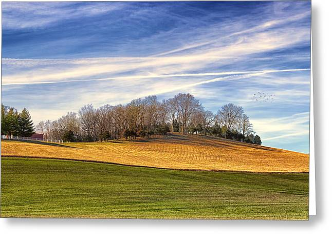 Waves Of Earth And Sky Greeting Card by Bill Tiepelman