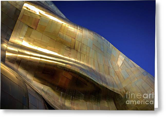 Waves Of Gold Greeting Card by Joan McCool