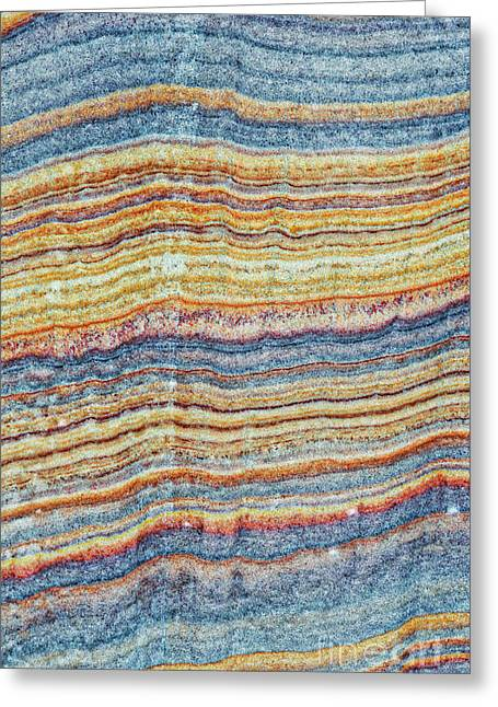 Waves Of Sandstone Greeting Card by Tim Gainey
