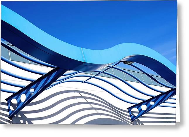 Waves Of Steel Greeting Card by Todd Klassy