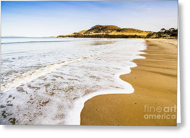 Waves Of Tranquil Calm Greeting Card by Jorgo Photography - Wall Art Gallery