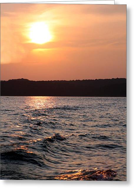 Waves On Greers Ferry Lake Greeting Card by Kenna Westerman