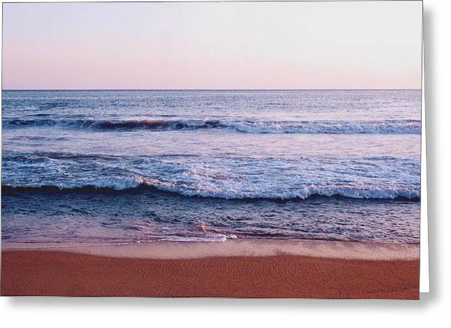Waves On The Beach 2 Greeting Card by Lyle Crump