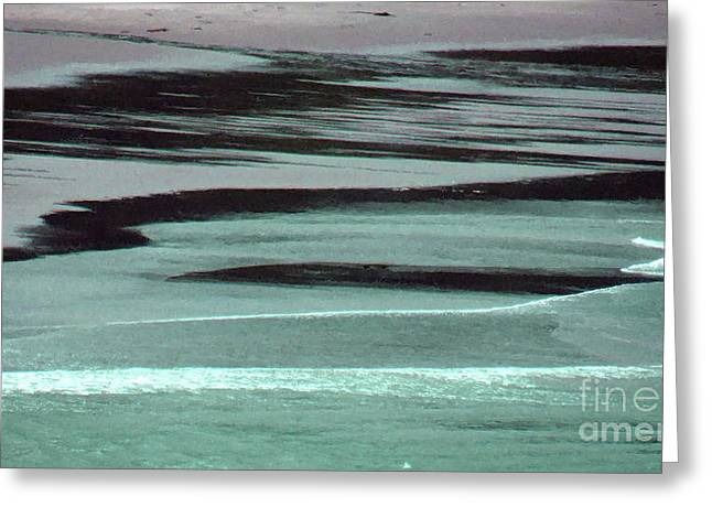 Waves On The Beach Greeting Card by Methune Hively
