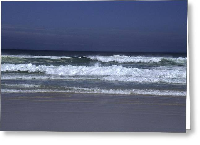 Waves Roll To Shore In The Pacific Greeting Card