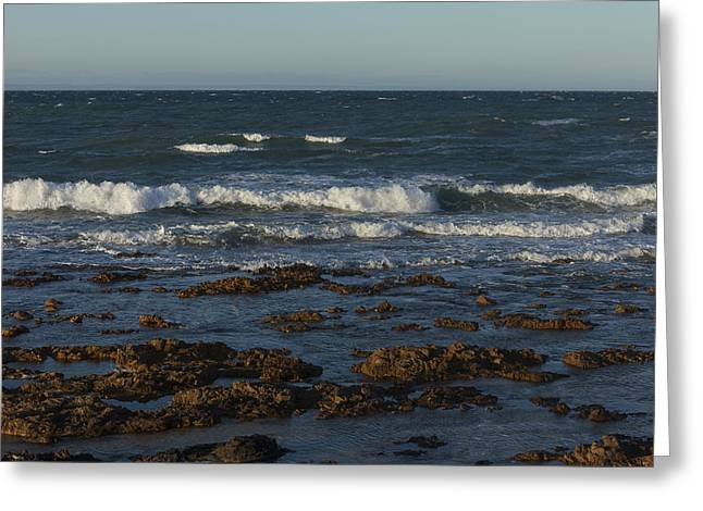 Waves Rolling Ashore Greeting Card