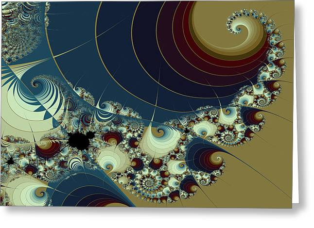 Waves Spirals And Mandelbrots No. 1 Greeting Card by Mark Eggleston