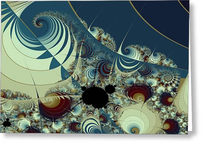 Waves Spirals And Mandelbrots No. 2 Greeting Card by Mark Eggleston
