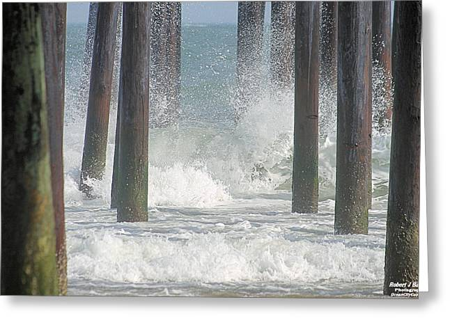 Waves Under The Pier Greeting Card