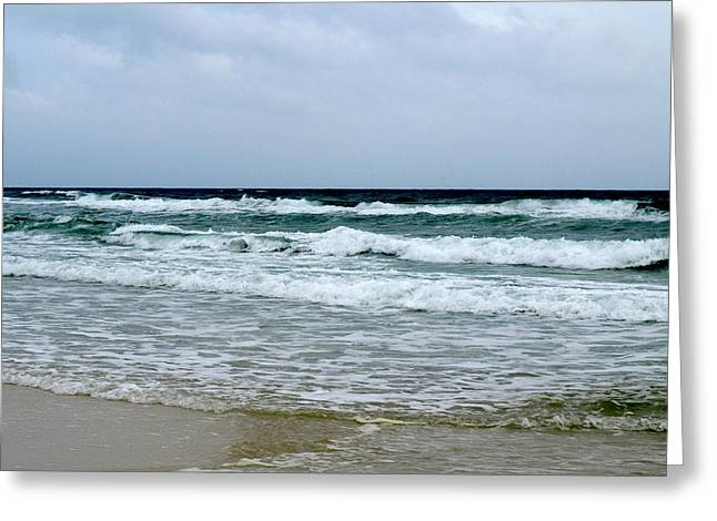 Waving At Pensacola Beach Greeting Card by Connie Diane Richards