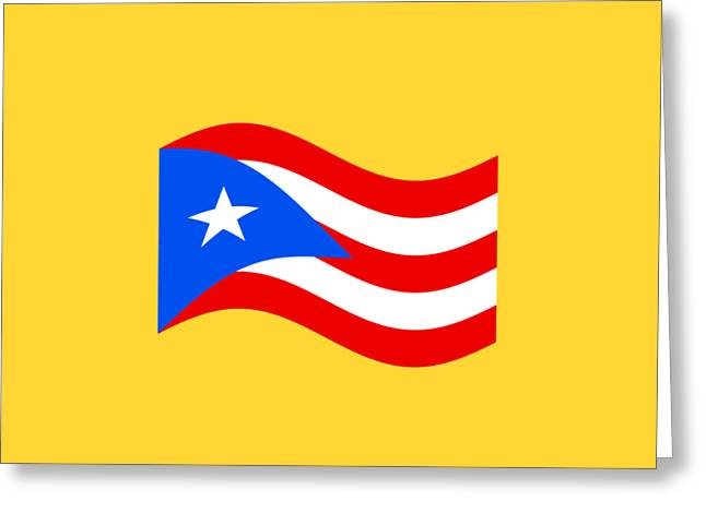 Waving Puerto Rico Flag Greeting Card by Frederick Holiday