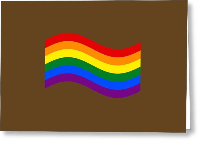 Waving Rainbow Flag Greeting Card by Frederick Holiday