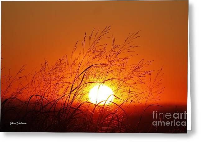 Waving Sun Greeting Card by Yumi Johnson