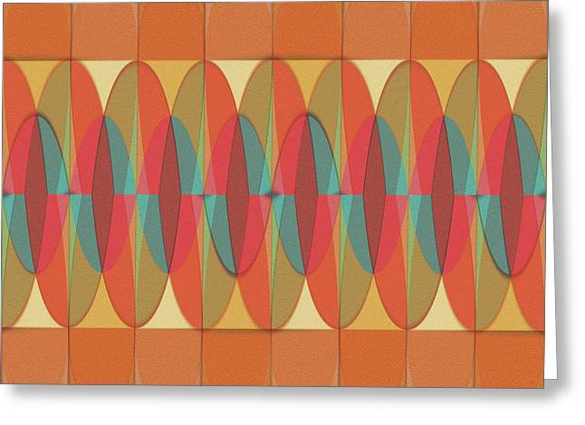 Wavy Color Stripe Greeting Card