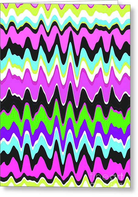 Wavy Stripe Greeting Card by Louisa Knight