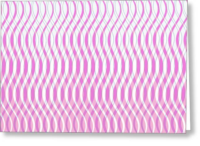 Gleem Greeting Cards - Wavy Stripes Greeting Card by Gina Lee Manley
