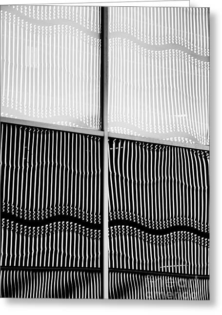 Wavy Wall Reflection Greeting Card by Tim Gainey