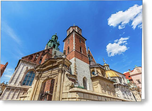 Wawel Cathedral, Cracow, Poland. The Royal Archcathedral Basilica Greeting Card by Michal Bednarek