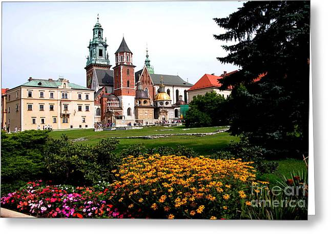 Wawel Cathedral In Krakow Greeting Card by Jacqueline M Lewis