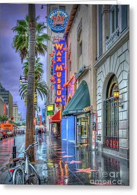 Wax Museum Hollywood Blvd. Greeting Card