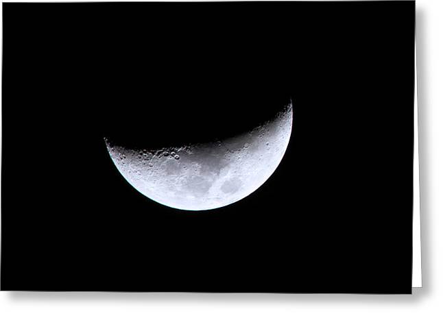 Waxing Crescent Night 4 Greeting Card by Mark Andrew Thomas