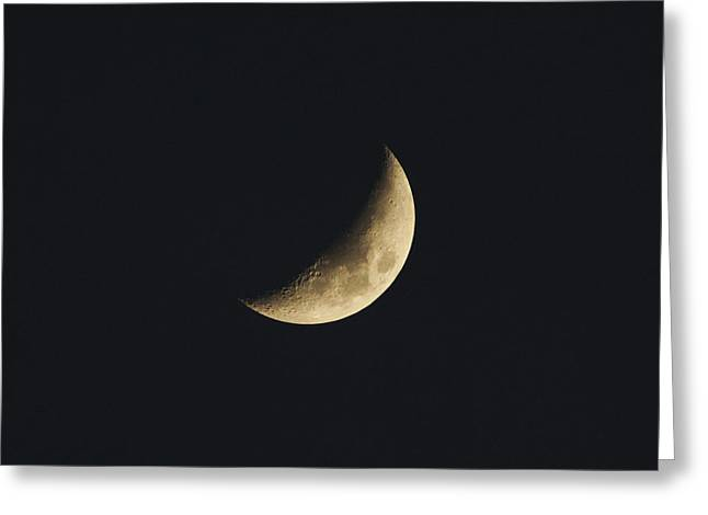 Waxing Crescent Spring 2017 Greeting Card