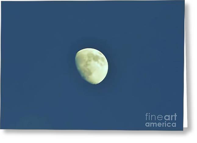 Waxing Moon Greeting Card by D Hackett