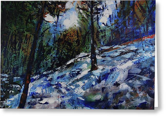 Greeting Card featuring the painting Way Of The Mono Trail by Walter Fahmy