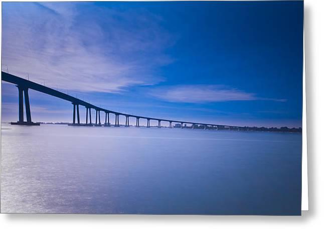 Bay Bridge Greeting Cards - Way Over the Bay II Greeting Card by Ryan Weddle
