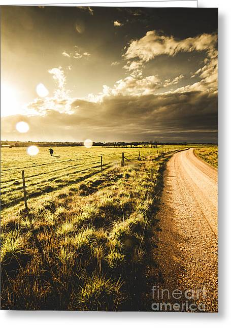 Way To Policemans Point Tasmania Greeting Card by Jorgo Photography - Wall Art Gallery