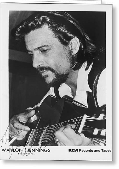 Waylon Jennings 1971 Signed Greeting Card by Mountain Dreams